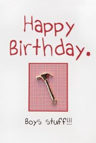 """Happy Birthday"" Boys Stuff - Hammer"