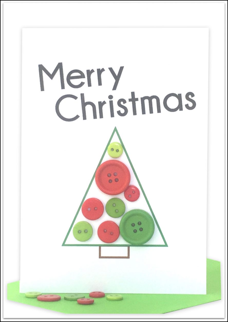 bulk wholesale Christmas Cards Button Christmas Tree