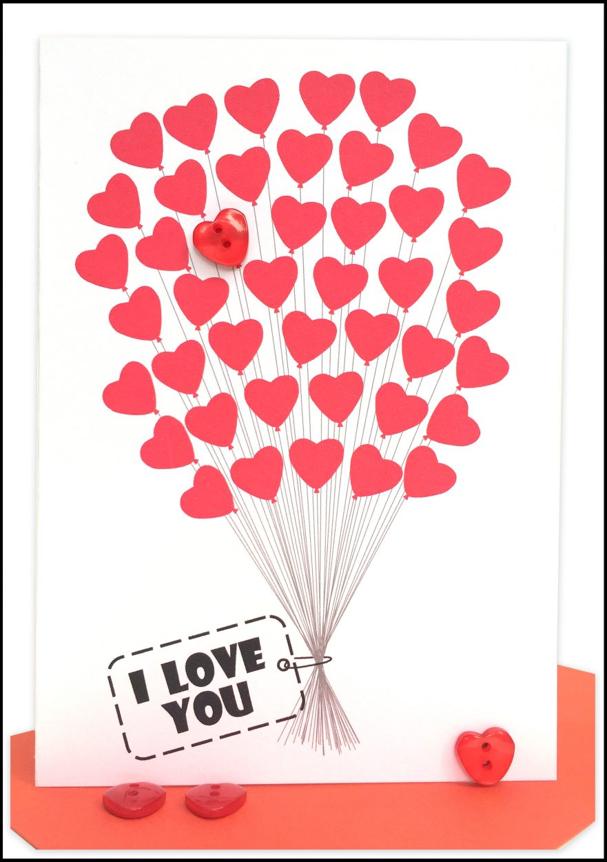Valentines Card Red LOVE Card Lils Wholesale Cards – Wholesale Valentine Cards