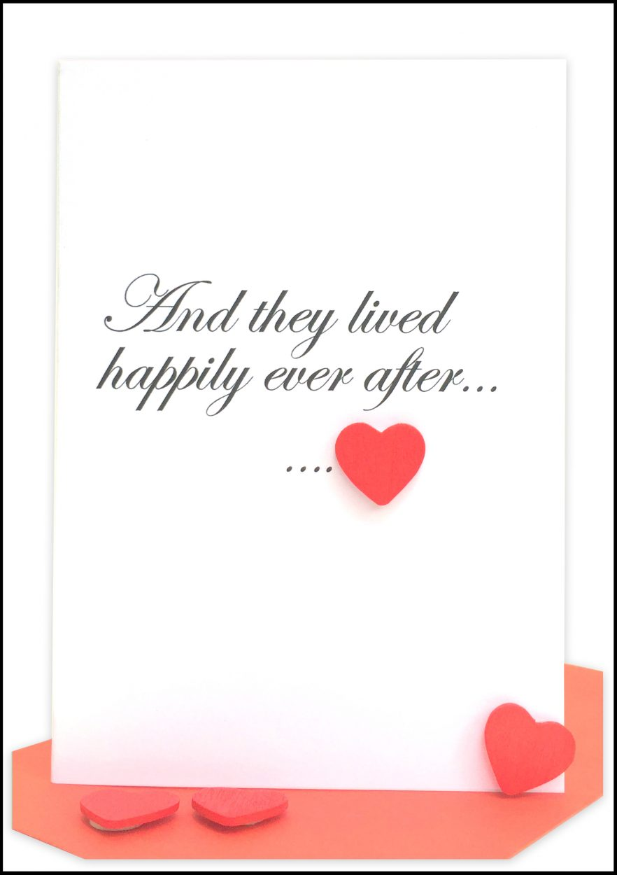 Wedding Card red heart wholesale bulk cards