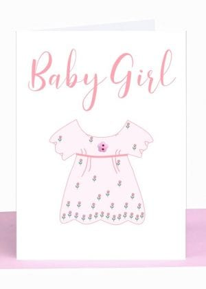 Baby Girl Greeting Card handmade wholesale australian made