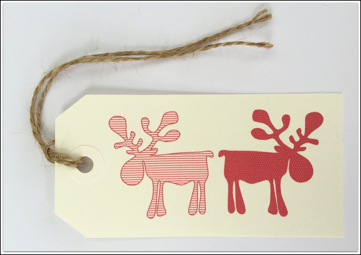 Christmas Tags Red Reindeers