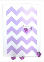 Blank Gift Card Purple Chevron