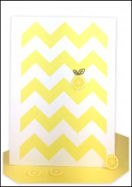 Blank Gift Card Yellow Chevron