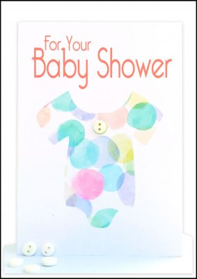 bs10 for your baby shower gift card jumpsuit watercolours