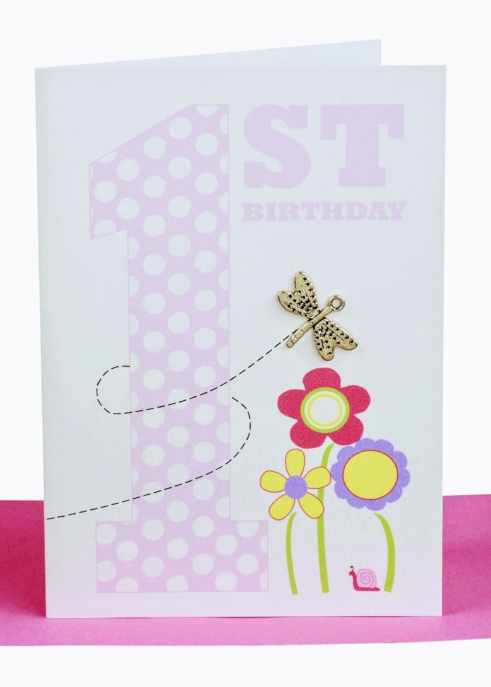Happy 1st birthday greeting card butterfly lils cards wholesale happy 1st birthday greeting card butterfly bookmarktalkfo Image collections