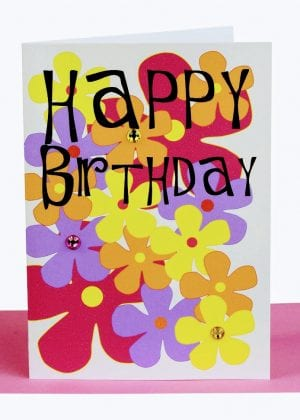 wholesale happy birthday greeting card flowers