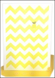 Blank Greeting Card Yellow Chevron