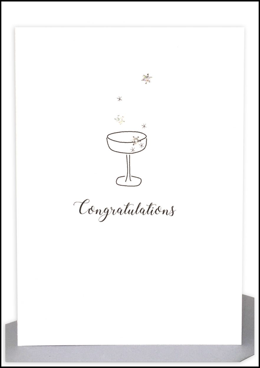 Wholesale Congratulations Greeting Card - Bubbles & Champagne