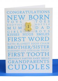 Handmade Congratulations Greeting Card Baby Boy