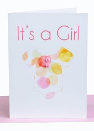 Wholesale baby girl greeting card