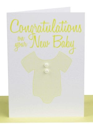 Congratulations Baby Greeting Card Onesie