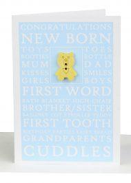 Wholesale congratulations Baby Boy Gift Card