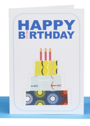 Happy Birthday Gift Card Red Cake