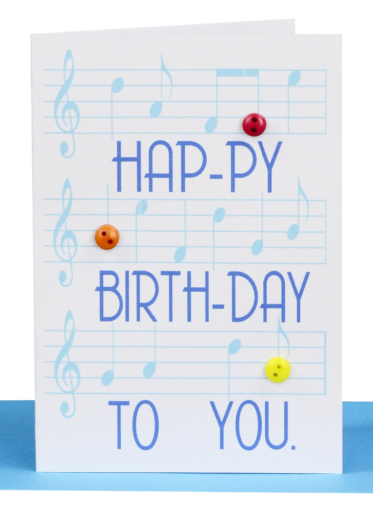 happy birthday gift card blue music - Happy Birthday Gift Card