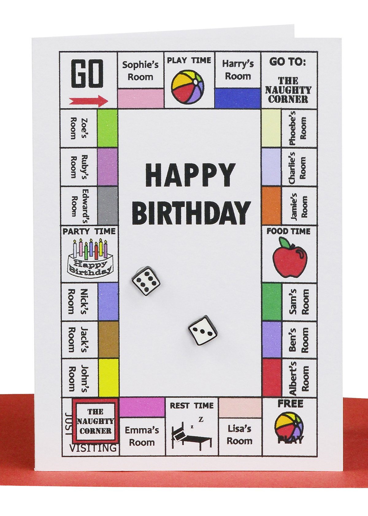 Happy Birthday Gift Card Monopoly Game