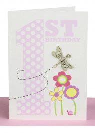 wholesale Girls 1st Birthday Gift Card
