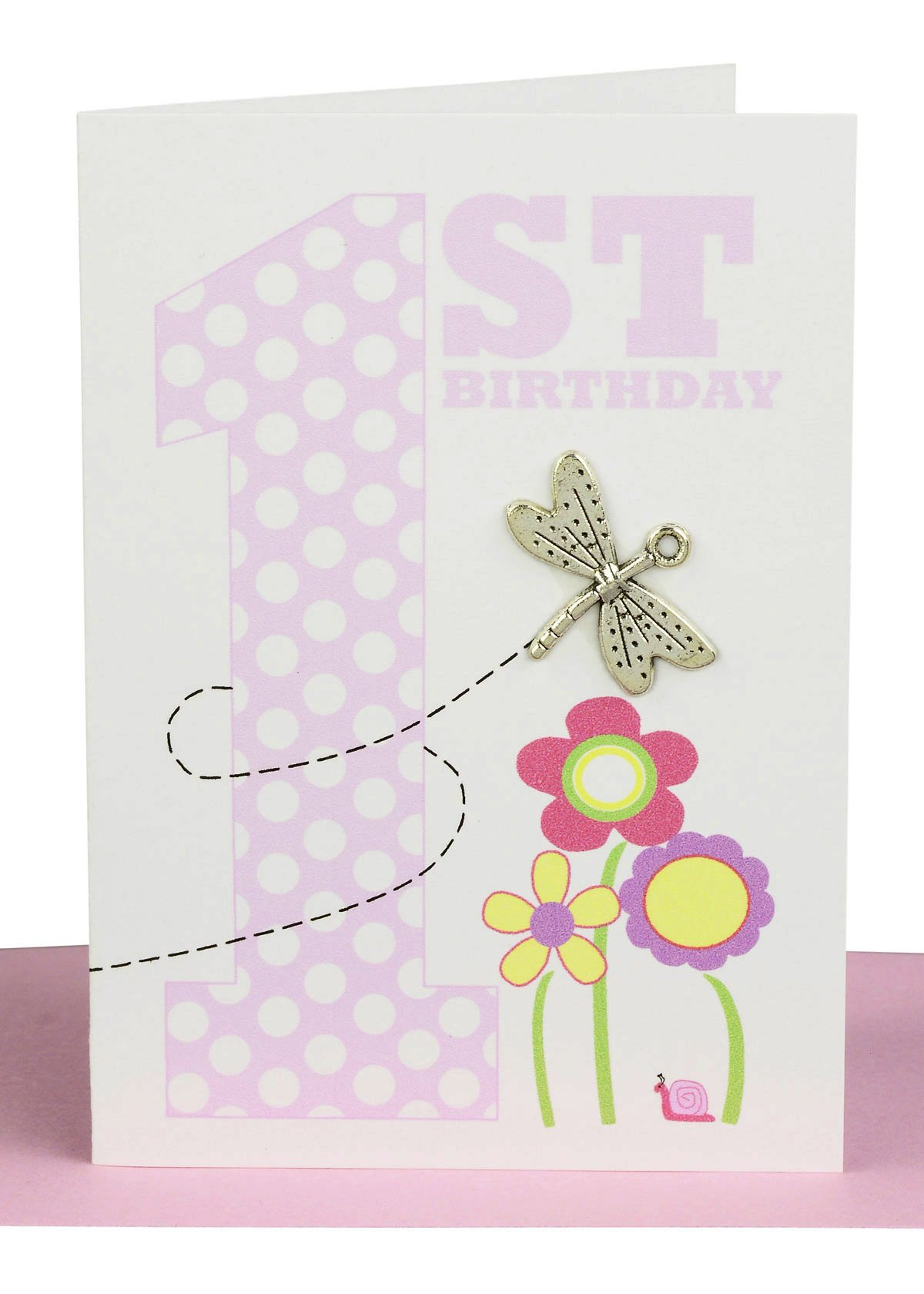 Happy 1st Birthday Gift Card Butterfly  Lils Handmade Card