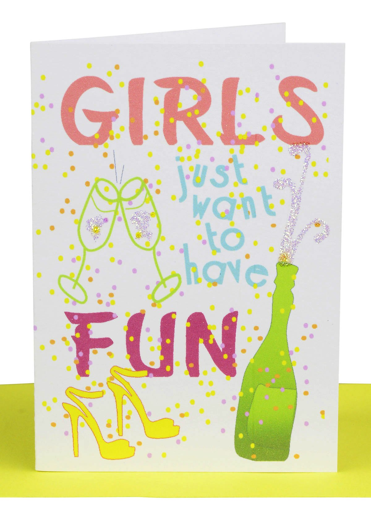 HANDCRAFTED GLITTER HAPPY BIRTHDAY CARDS BOTTLES CARD