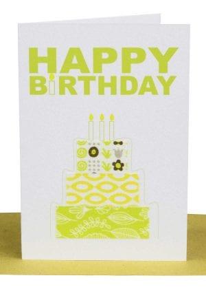 Birthday Gift Card Yellow