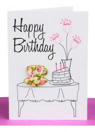 wholesale Birthday Gift Card Tea and cake