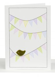 Blank Small Gift Card Bird sitting on Bunting