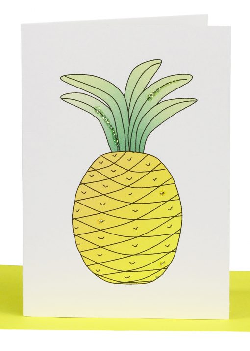 Pineapple Blank Card. Wholesale Australian Handmade Gift & Greeting Cards, Wholesale & Bulk Orders only. Baby, Birthdays, Get Well, Thank You Cards etc