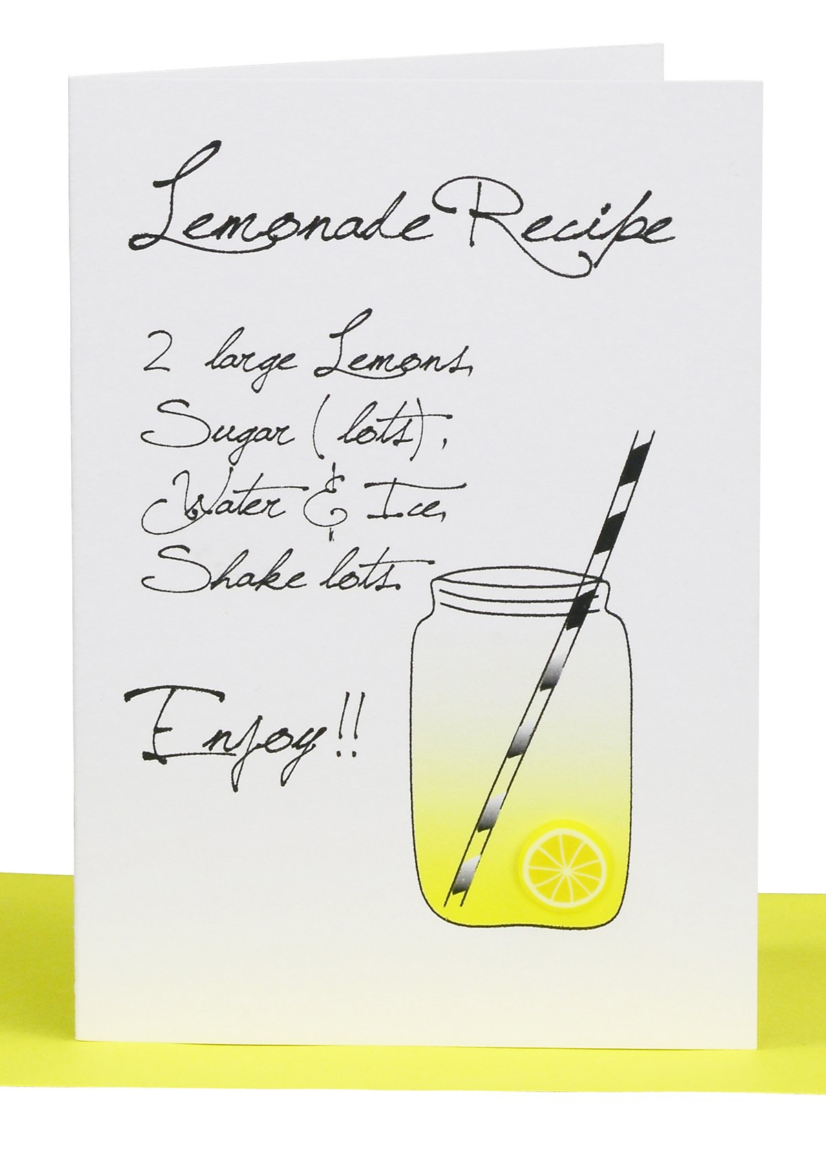 Wholesale blank gift card lemonade