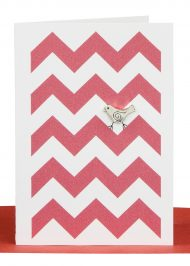 Blank Gift Card Red Chevron
