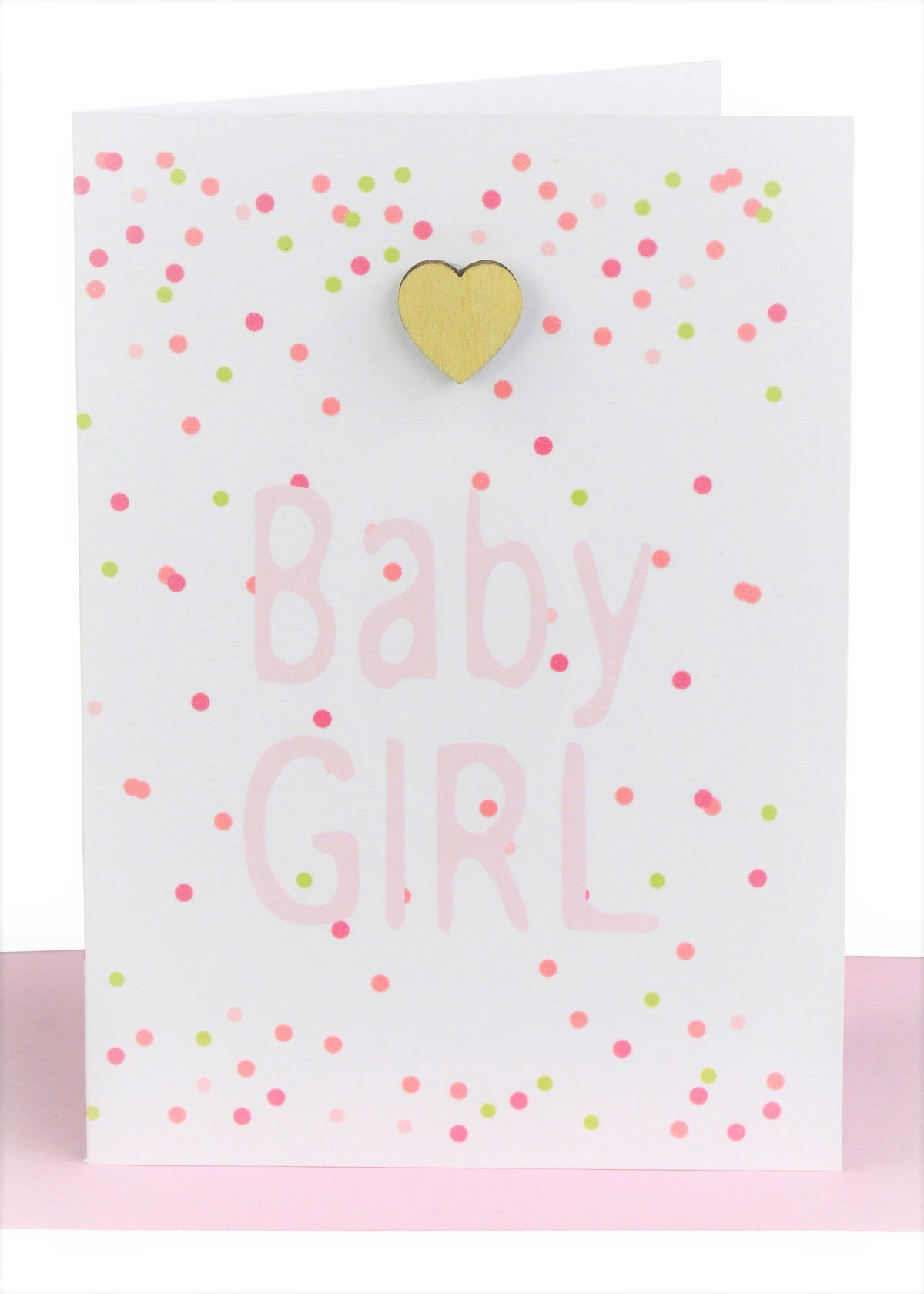 wholesale baby girl gift card confetti and hearts
