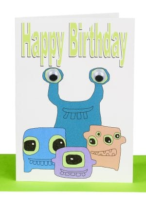 Happy Birthday Greeting card Monsters