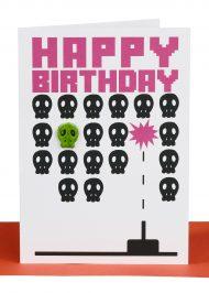 Happy Birthday Greeting Card Pacman