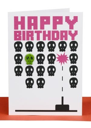 Happy Birthday Greeting Card Pacman