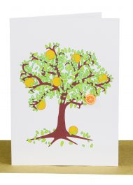 Wholesale Blank Greeting Card orange tree