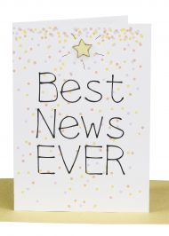 Wholesale Congratulations Greeting Card -Best News Ever