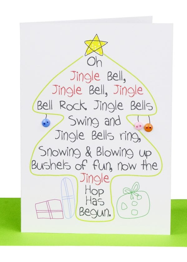 wholesale Christmas Cards Jingle Bells Tree