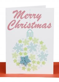 Christmas Cards Blue Snowflake Bauble