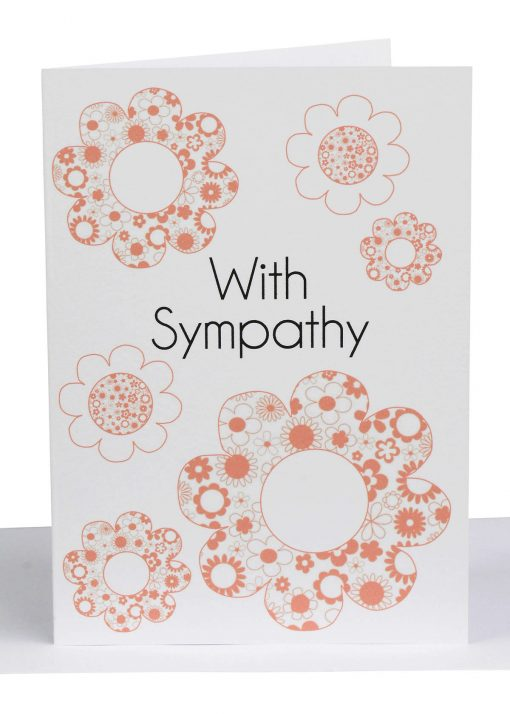 WHOLESALE SYMPATHY GREETING CARD APRICOT FLOWERS