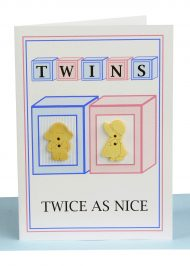 "wholesale ""Twins Boy and Girl"" greeting card Twice as Nice"