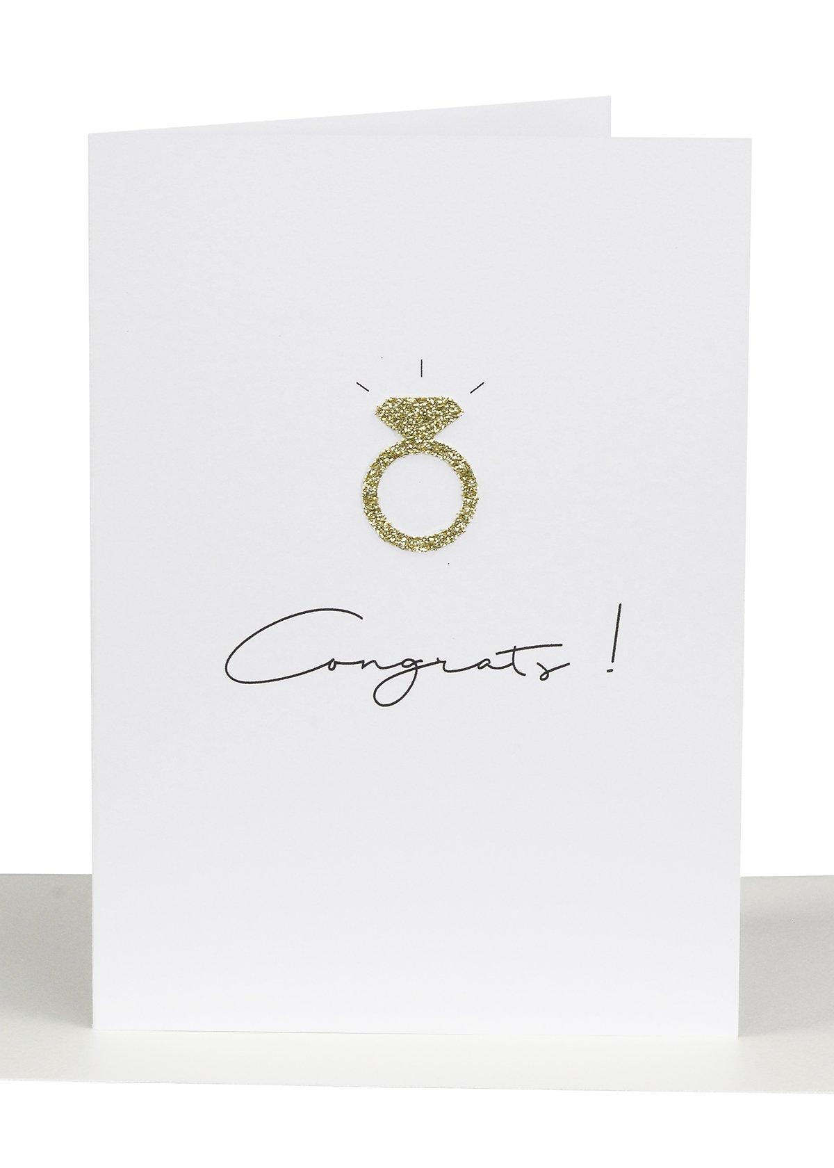Wholesale Congratulations Greeting Card WEdding Ring