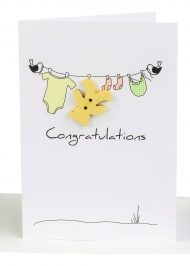 Congratulations Baby Gift Card Clothesline