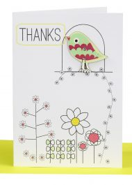 handmade thank you gift card