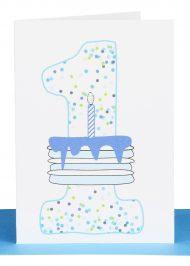 Boys 1st Birthday gift Card