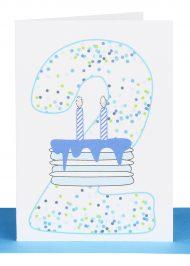 Boys 2nd Birthday gift Card