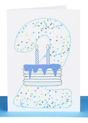 Boys 2nd Birthday gift Card