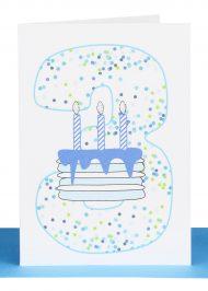 Boys 3rd Birthday gift Card