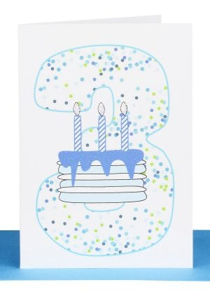 Boys 3rd Birthday gift Card