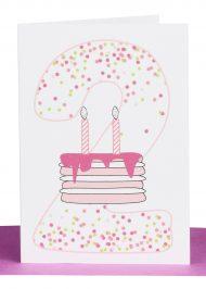 Girls 2nd Birthday gift Card