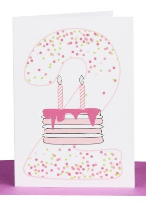 Girls 2nd Birthday gift Card