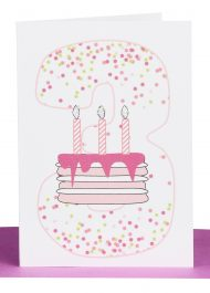 Girls 3rd Birthday gift Card